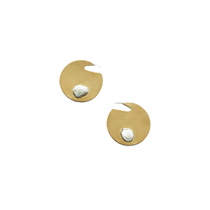 Medium edun mixed stone circle earrings