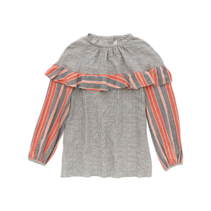 Medium tamu ruffle top grey