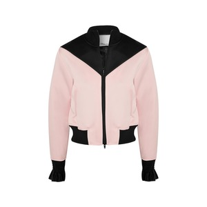 Medium phillip lim silk trimmed satin crepe bomber jacket