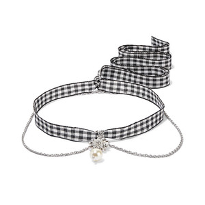 Medium miu miu gingham necklace