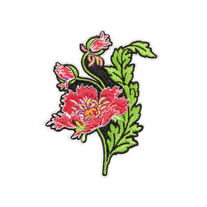 Medium libertys embroidered poppy sticker patch