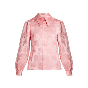 Medium alexa chung point collar floral jacquard shirt