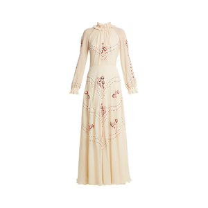 Medium vilshenko cara embroidered silk chiffon gown