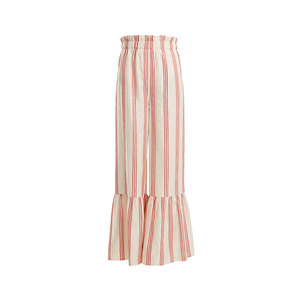 Medium vilshenko cecile striped satin jacquard wide leg trousers