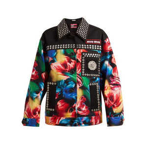 Medium miu miu flower print stretch jacket