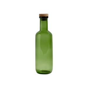 Medium hay green glass bottle
