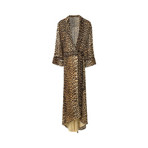 Medium ganni fairfax georgette wrap dress