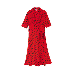 Medium ganni emory crepe wrap dress