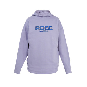 Medium martine rose collapsed cotton jersey hooded sweatshirt