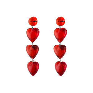 Medium tuza never tear us apart rojo drop earrings