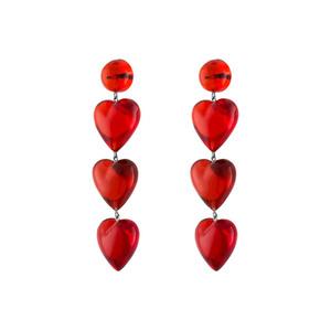 Medium tuza never tear us apart rojo drop earrings