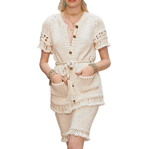 Medium chanel cruise look 44 cardigan   belt and skirt