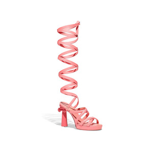 Medium chanel sandals goatskin pink