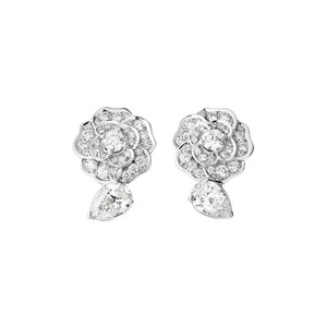 Medium chanel camelia earrings