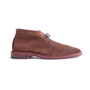 Medium alden unlined chukka boot in dark brown suede