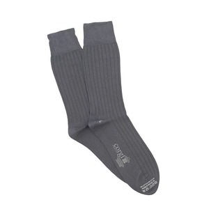 Medium corgi lightweight cotton blend socks in grey