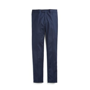 Medium stretch wool tab front trouser in navy
