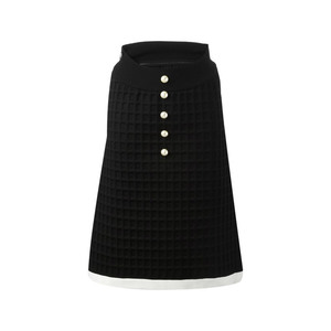 Medium chanel vintage neoprene skirt