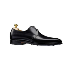 Medium crockett and jones highbury plain toe shoe in black calf