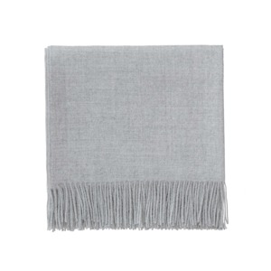 Medium urbanara light grey alpaca wool blanket