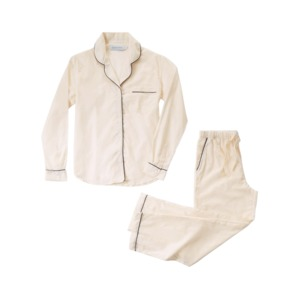 Medium desmond and dempsey classic cream long cotton womens