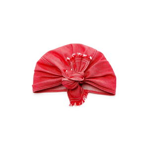 Medium lola hats red denim turban