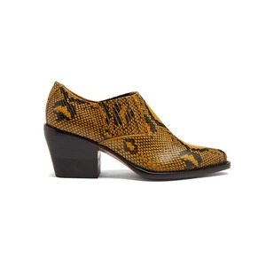 Medium chloe western snake effect leather ankle boots