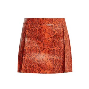 Medium chloe python print leather mini skirt