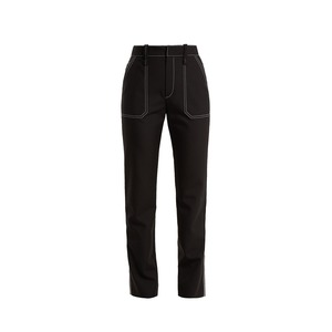 Medium chloe high ride contrasting stitch detail trousers