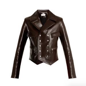 Medium chloe double breasted leather jacket
