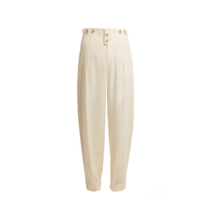 Medium chloe high rise tapered leg cady trousers