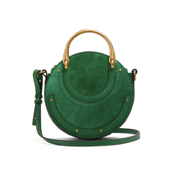 73e5a7aeb CHLOÉ - Pixie small suede and leather cross-body bag - Semaine