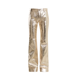 Medium chloe wide leg leather trousers