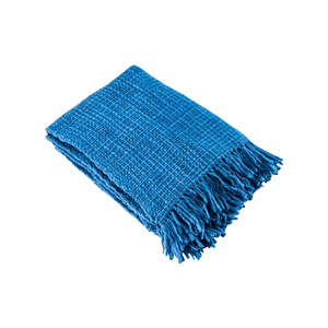 Medium conran blue alba wool throw