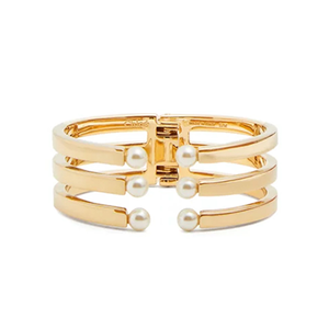 Medium chloe darcy gold tone brass embellished cuff
