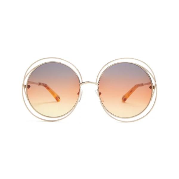 Large carlina round frame sunglasses
