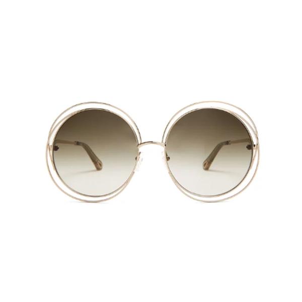 Large chloe carlina round frame sunglasses