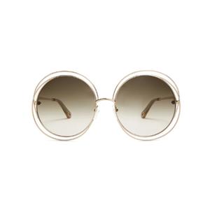 Medium chloe carlina round frame sunglasses