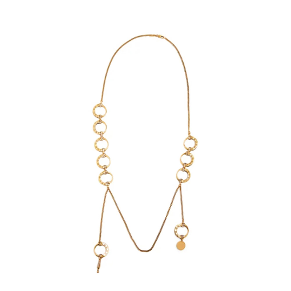 Large chloe quinn curbed chain necklace