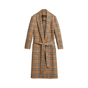 Medium burberry reissued vintage check dressing gown coat