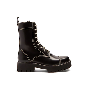 Medium alexa chung contrast stitch leather boots