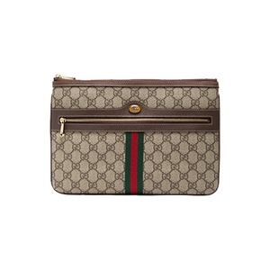 Medium gucci brown ophidia gg supreme leather pouch