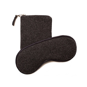 Medium armand diardourian cashmere eye mask and pouch