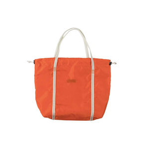 Medium repurposed nasa parachute tote in orange
