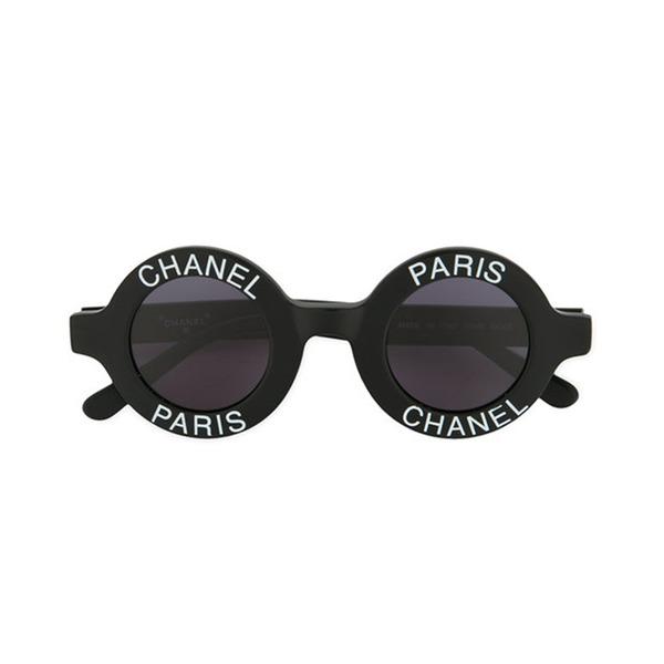 5ac1d6fa65a3 Chanel -Vintage - Round Logo Sunglasses - Semaine