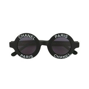 Medium chanel vintagelogo stamp round sunglasses