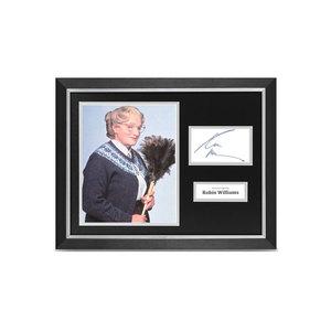 Medium ebay robin williams signed 16x12 framed photo display mrs doubtfire autograph   coa