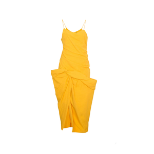 Medium jacquemus strappy dress with draped skirt