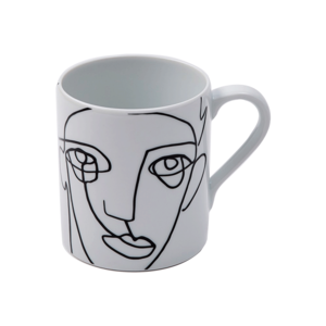 Medium spiral face patterned mug the conran shop