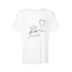 Medium tes sketch print t shirt
